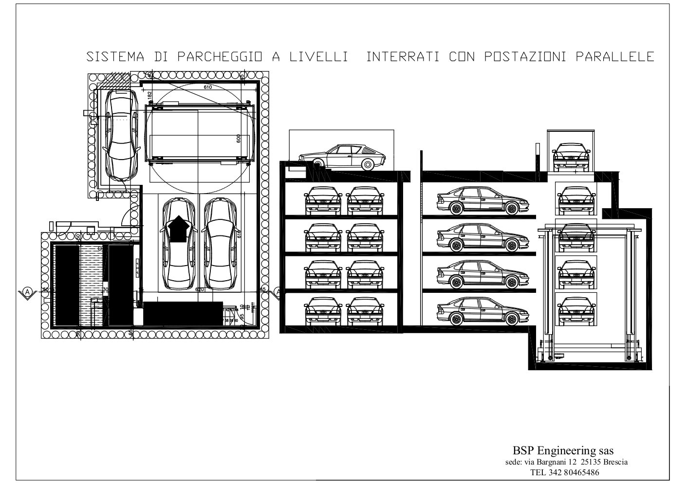 Automatic parking system for Garage a 2 livelli